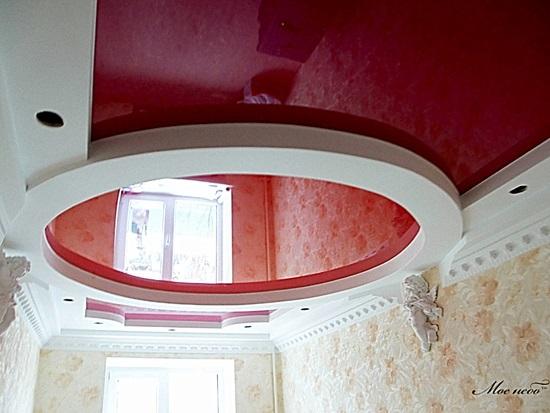 Как сделать потолок с круглыми 93