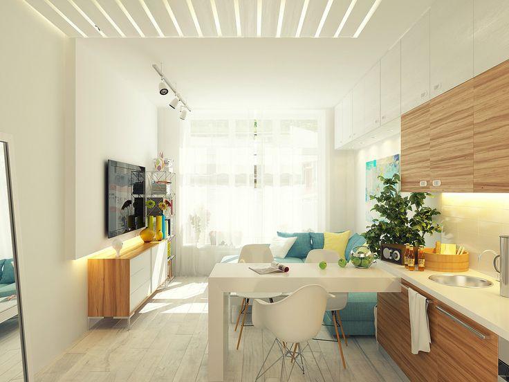 Скрытый свет в квартире с одним окном