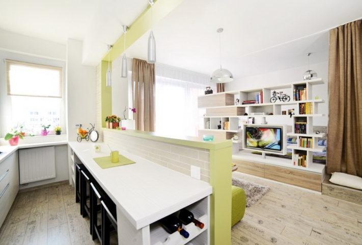 Снос части стены между кухней и гостиной