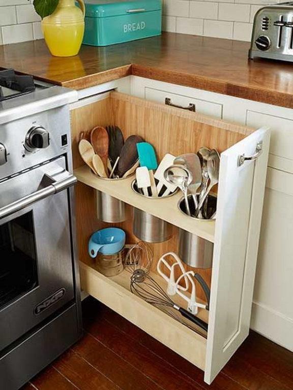 Вертикальный выдвижной ящик для кухни