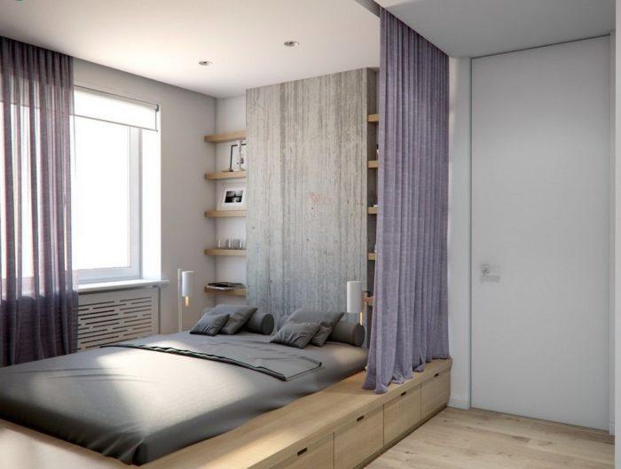 Выдвижные ящики в основании кровати