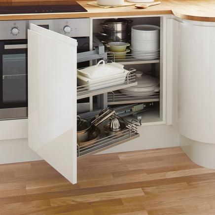 Механизм для углового ящика на кухне