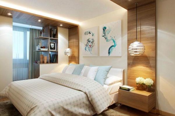 Спальня объединённая с балконом