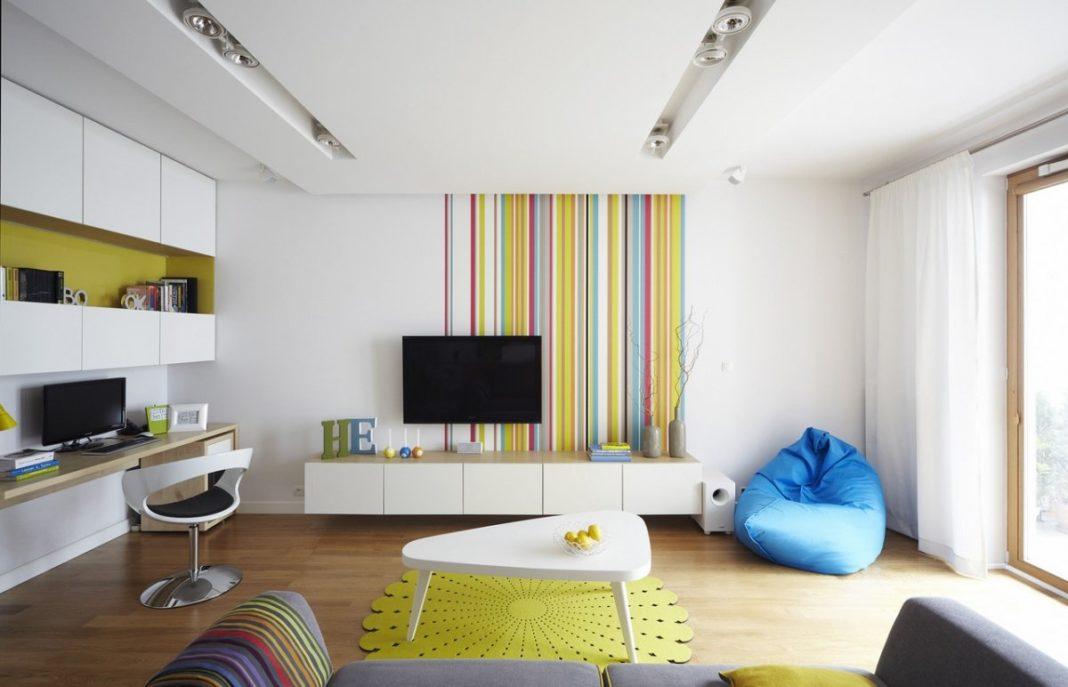 Легкий дизайн гостиной