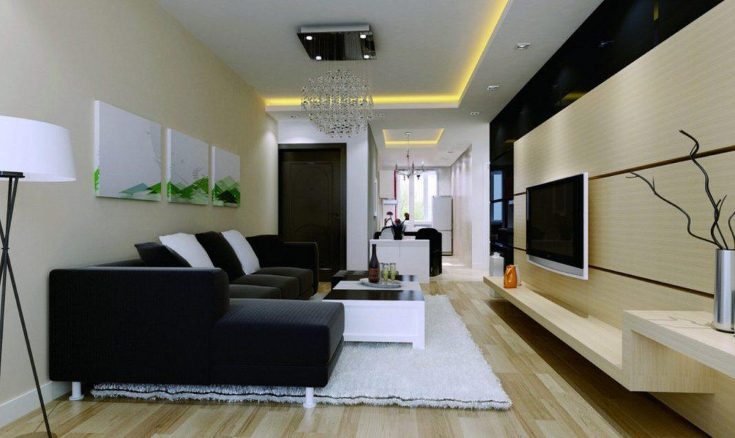 потолок с нишей для скрытого света