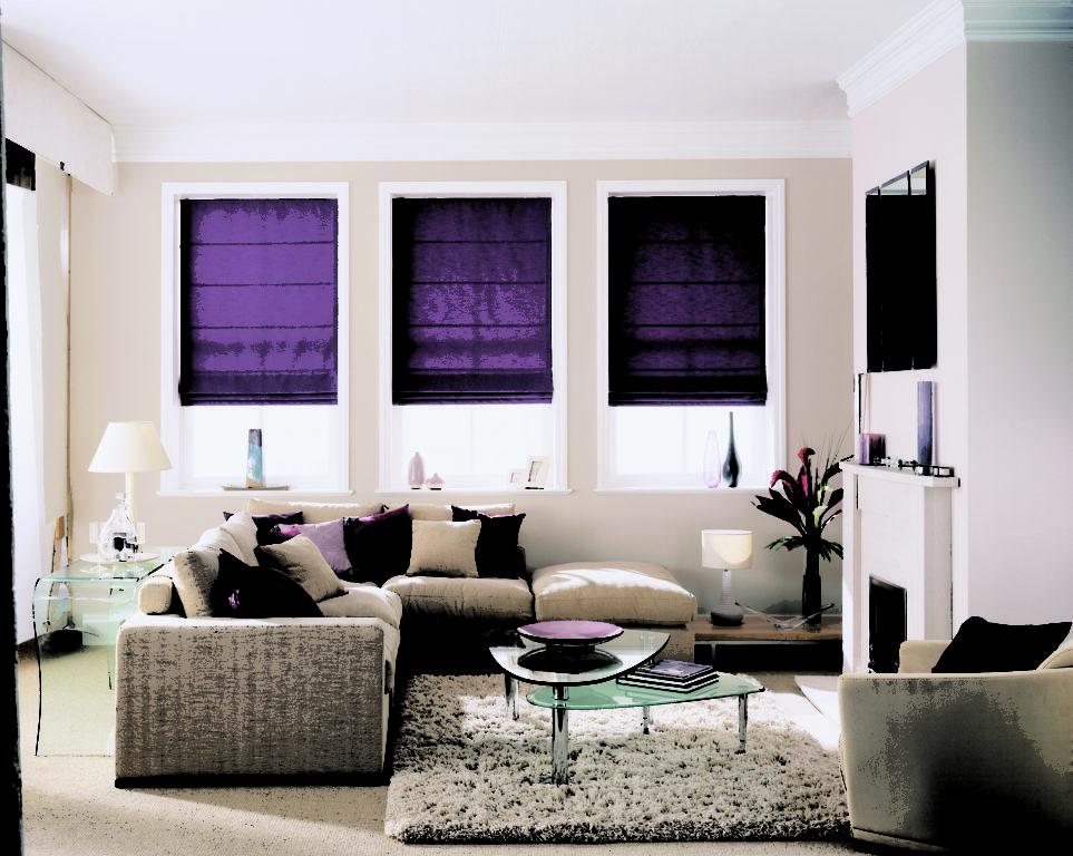 Фиолетовые рольшторы