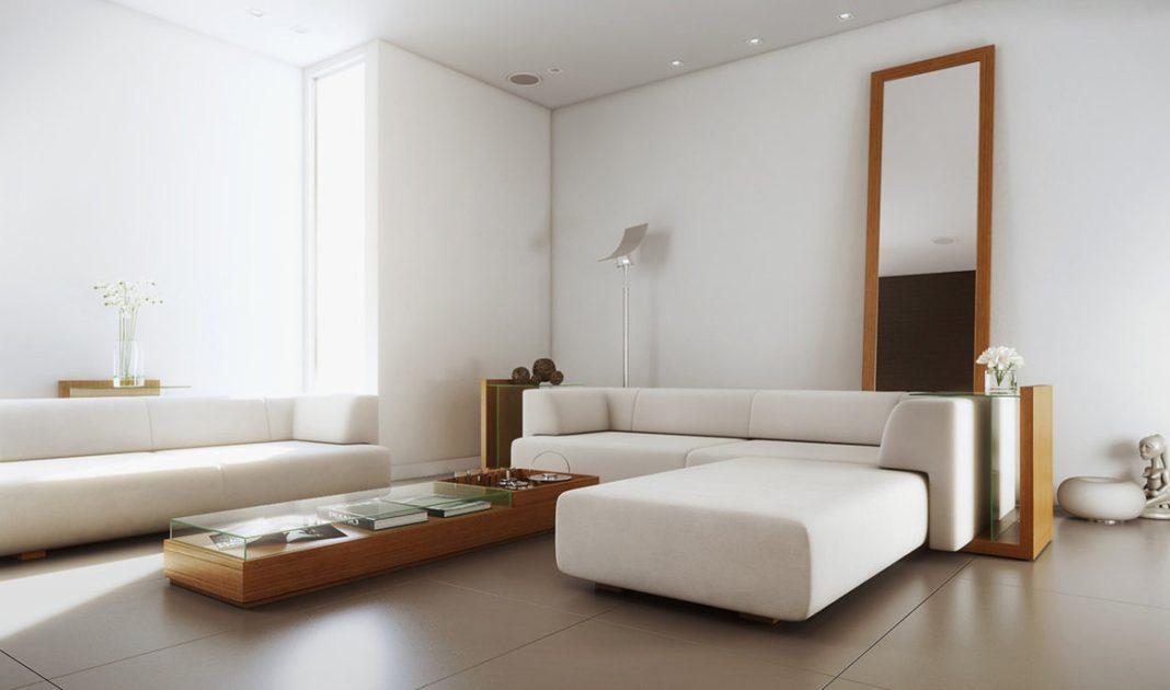 Phòng khách theo phong cách tối giản