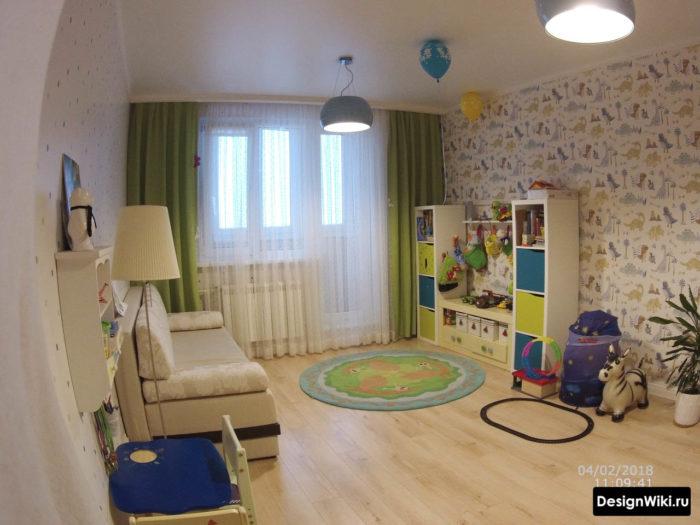 Бюджетный ремонт в детской комнате с обоями