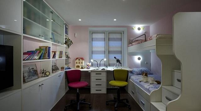 Вечернее фоновое освещение детской комнаты
