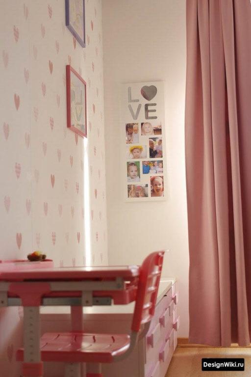 Декор стен фотографиями в детской