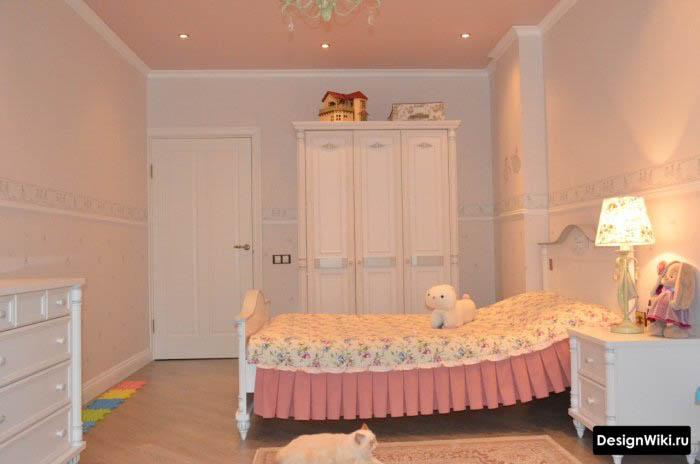 Дизайн детской комнаты с кроватью