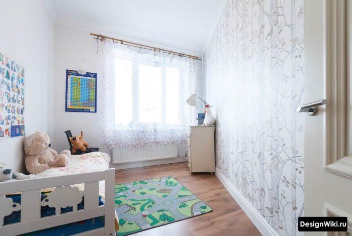 Недорогая нейтральная отделка детской комнаты