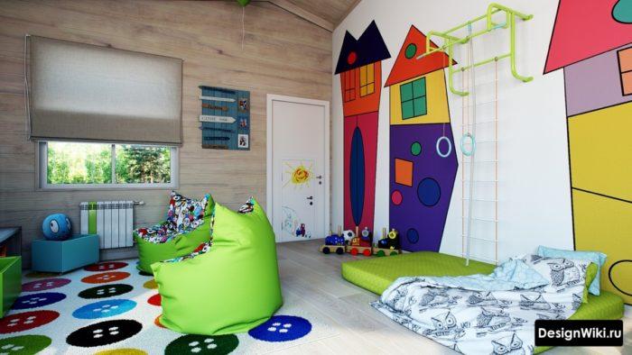 Очень стильный дизайн детской комнаты