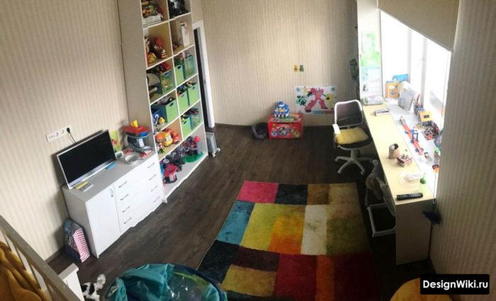 Панорама планировки детской комнаты