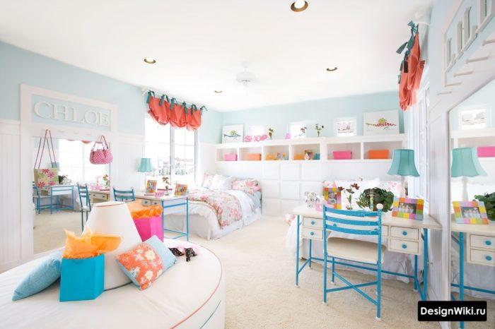 Пастельная цветовая гамма в интерьере детской