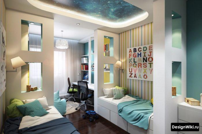 Потолок звездное небо в детской комнате