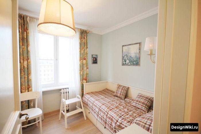 Простой недорогой стильный дизайн детской комнаты