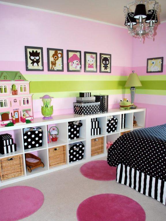 Розовая детская дизайн