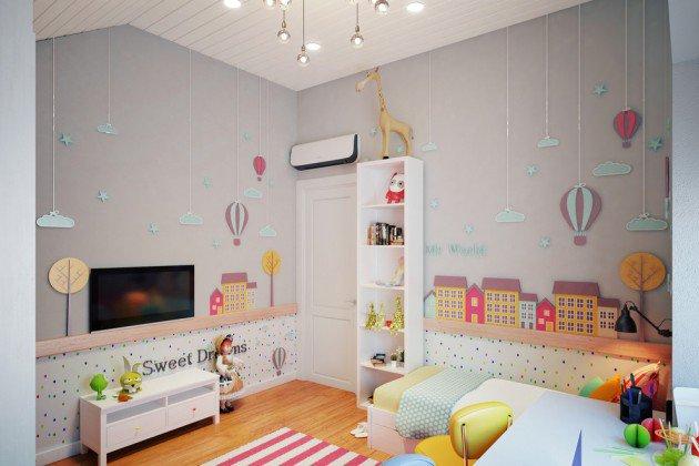 Серый цвет в дизайне детской