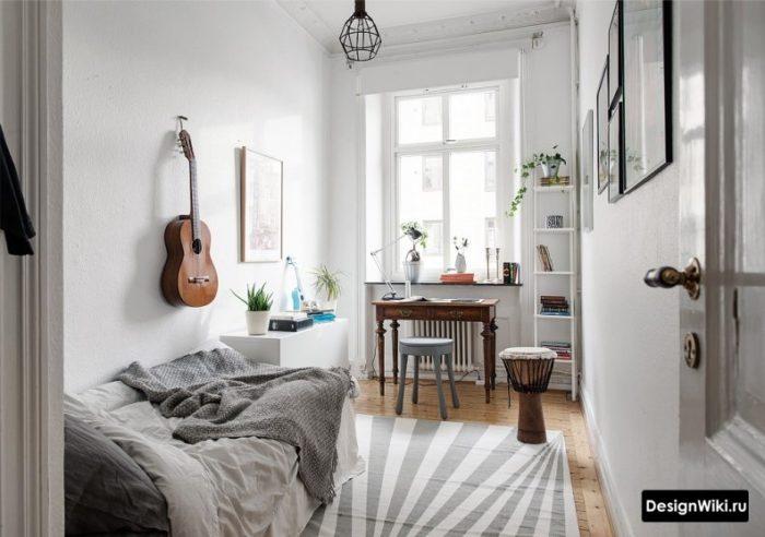 Бело-серая детская комната для мальчика