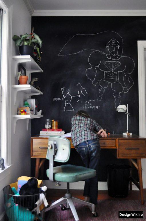 Грифельная доска для рисования в детской