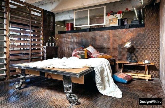 Детская комната мальчика в индустриальном стиле