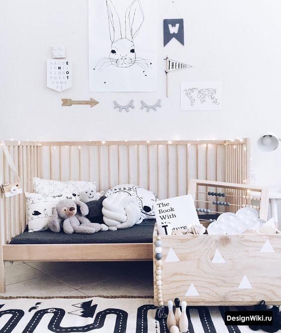 Интерьер детской комнаты для мальчика в скандинавском стиле