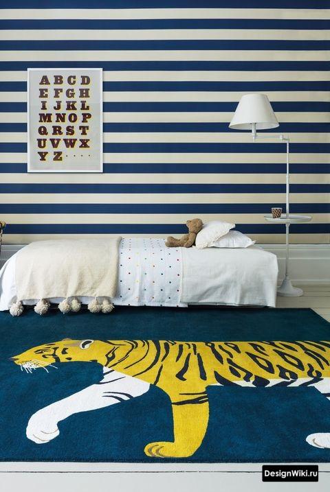 Ковер с тигром в детской