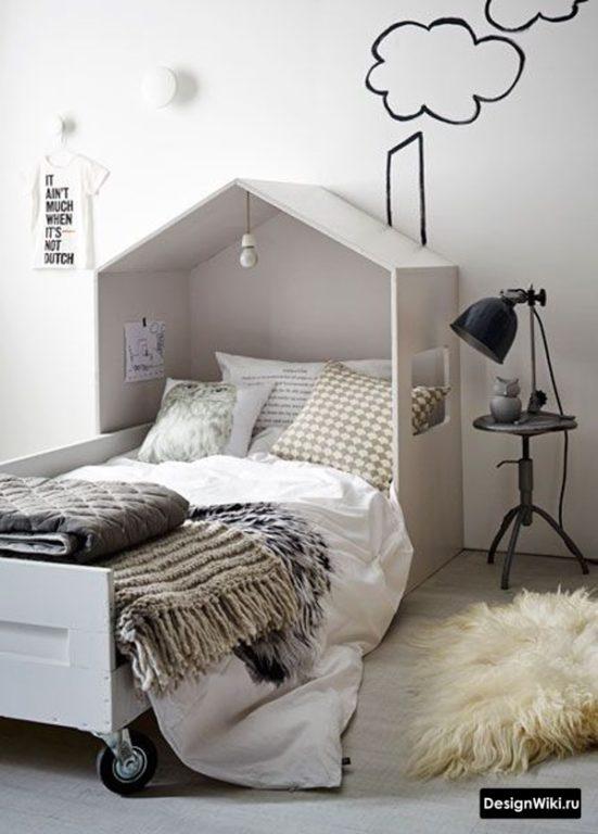 Кровать шалаш в детской мальчика