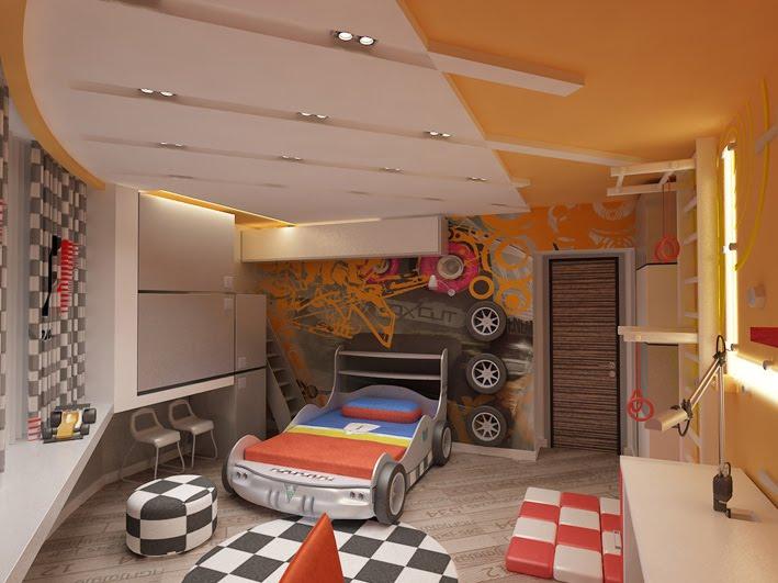 автомобильная тема комнаты
