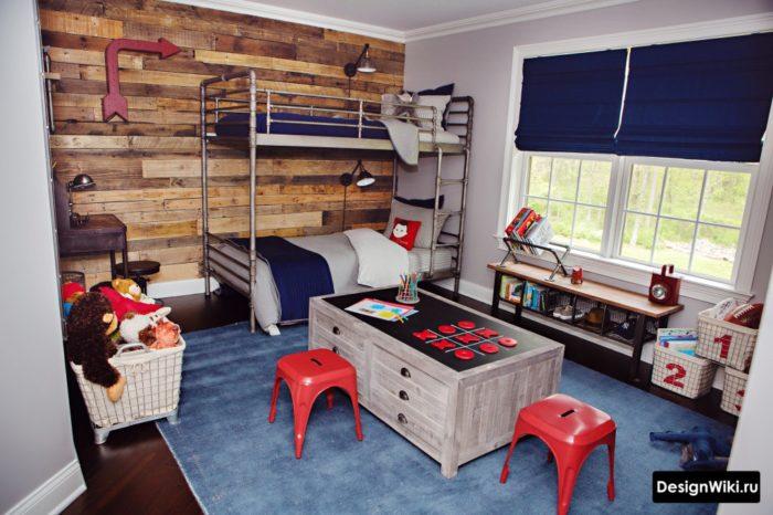 комната мальчика в стиле лофт