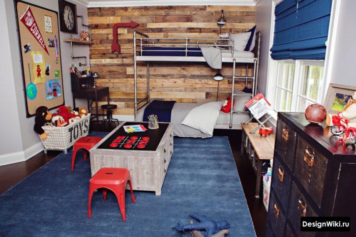 интерьер комнаты мальчика в стиле лофт
