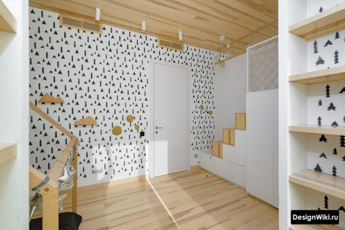 Дизайн детской комнаты для мальчика в скандинавском стиле