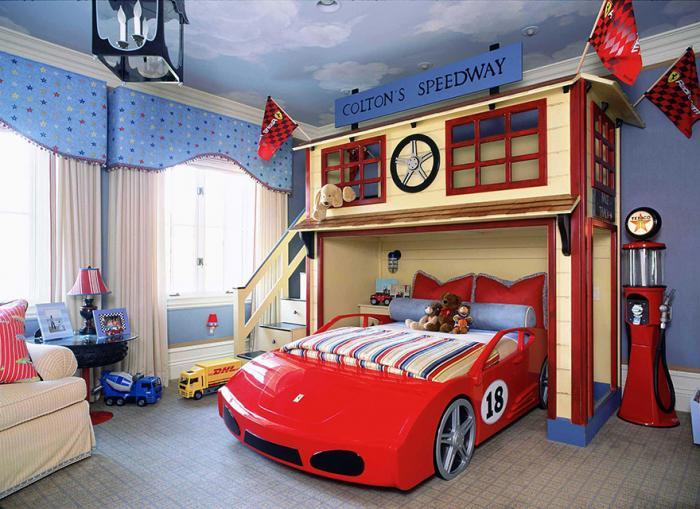 автомобильная тема дизайна для детской