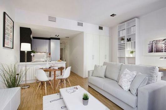 кухня с гостиной в минимализме