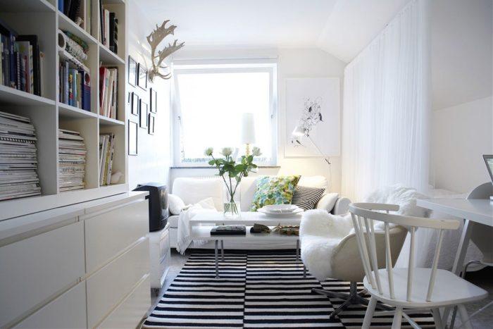 Белая скандинавская мебель