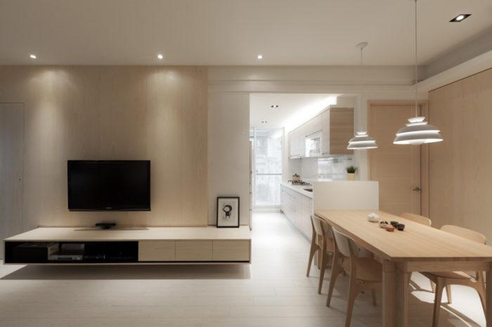 Большая квартира в современном скандинавском стиле
