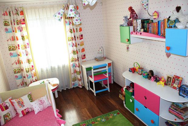 Дизайн детской для девочки нейтральный