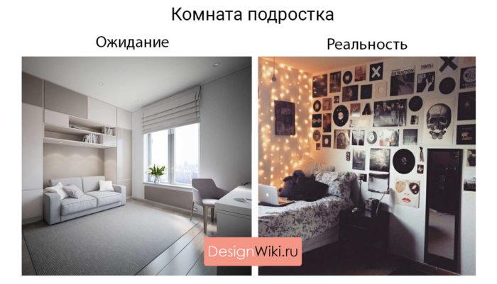 Дизайн детской комнаты для подростка ожидание реальность
