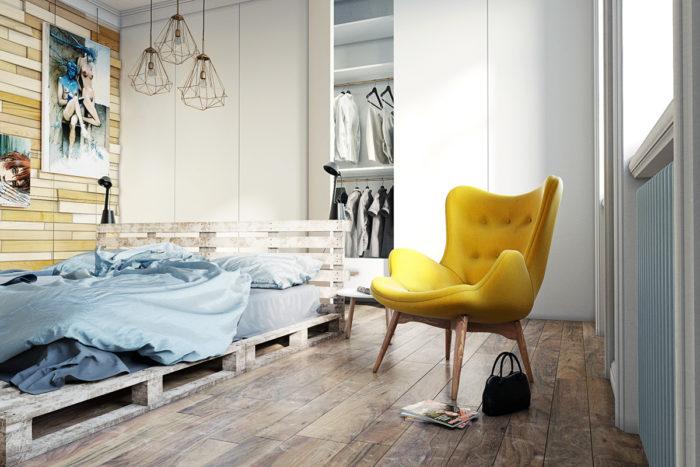 Идея кровати для скандинавского стиля