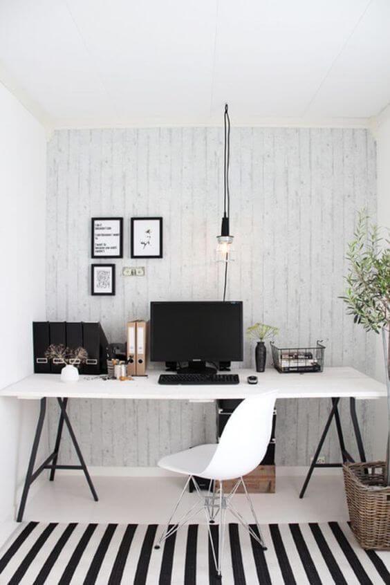 Интерьер кабинета в скандинавском стиле