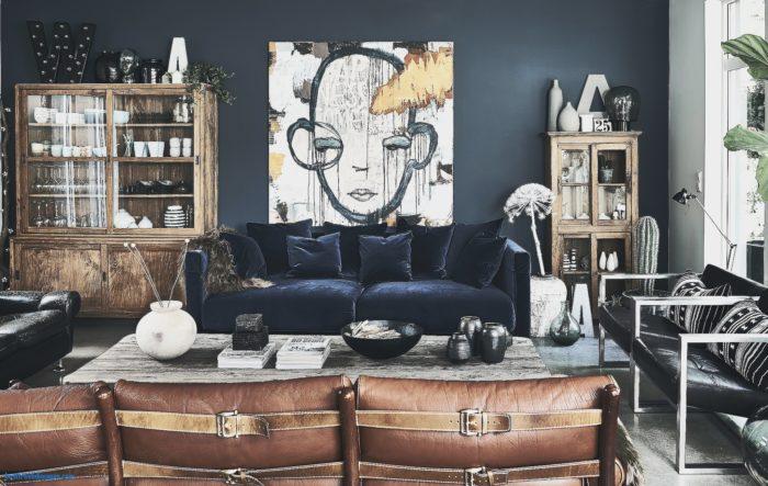 Кожанная и бархатная мебель в стиле арт-деко
