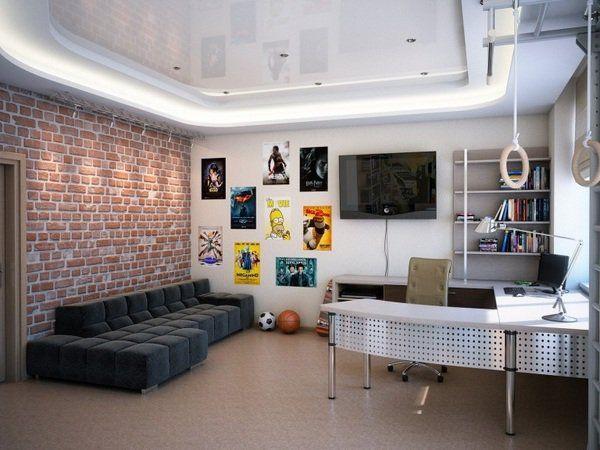 Комната для мальчика подростка в стиле лофт
