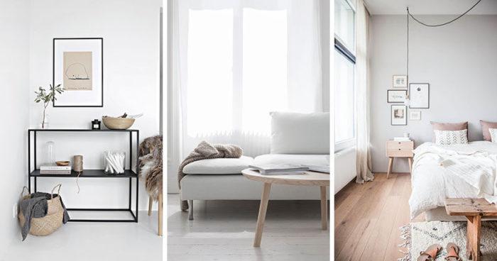 Лёгкая деревянная мебель в скандинавском стиле