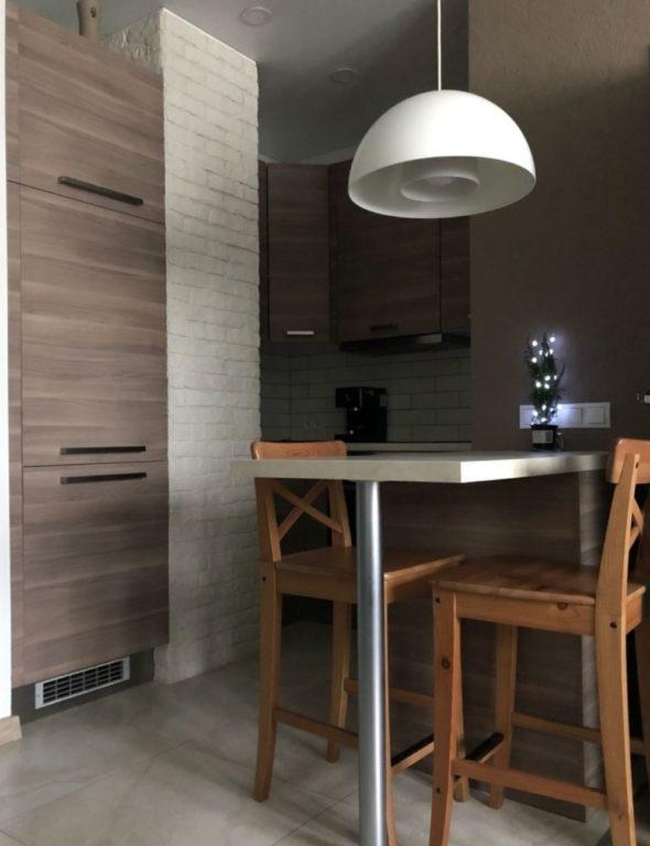 Микро-кухня в однокомнатной квартире