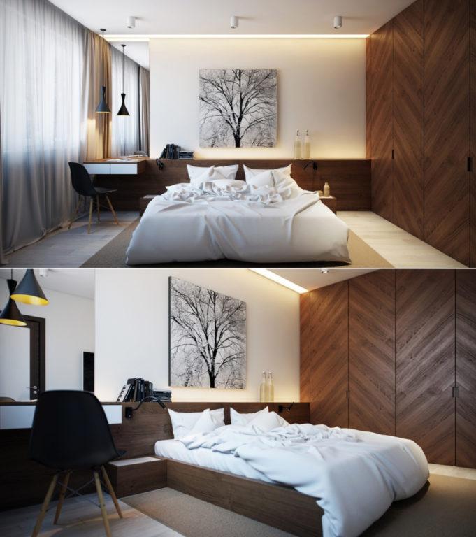 Модная спальня в скандинавском стиле