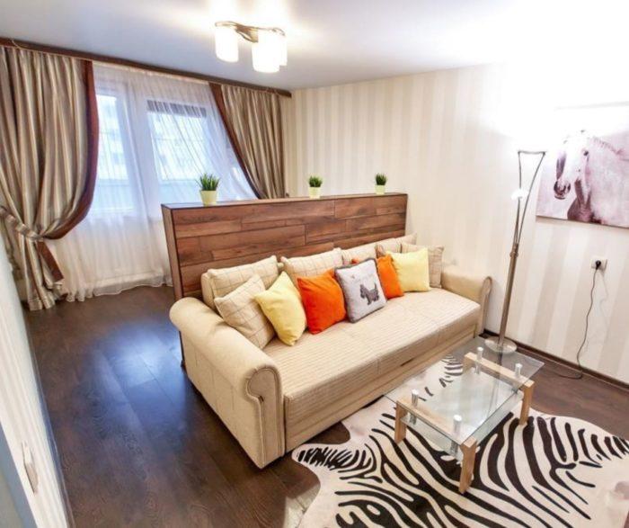 Перегородка для двуспальной кровати в однокомнатной квартире