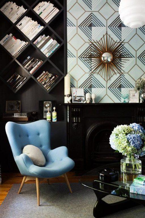 Современное кресло в стиле арт-деко