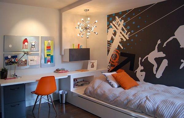 Современный дизайн комнаты старшеклассника