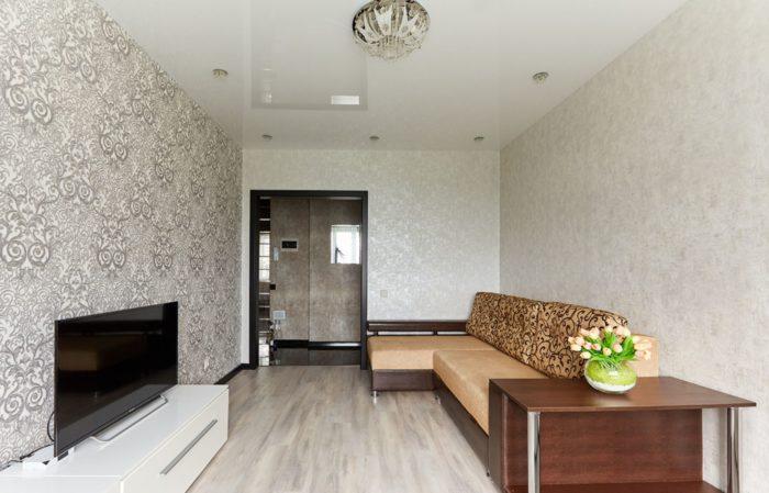 Современный простой ремонт в однокомнатной квартире